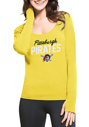 '47 Pittsburgh Pirates Womens Gold Forward Athleisure Tee