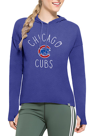 '47 Chicago Cubs Womens Light Blue Energy Lite Hoodie