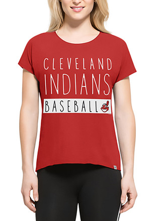 '47 Cleveland Indians Womens Red SS Athleisure Lumi Tee Tee