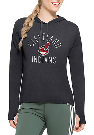 '47 Cleveland Indians Womens Navy Blue Energy Lite Hoodie