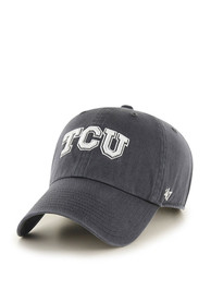 TCU Horned Frogs 47 Clean Up Adjustable Hat - Charcoal