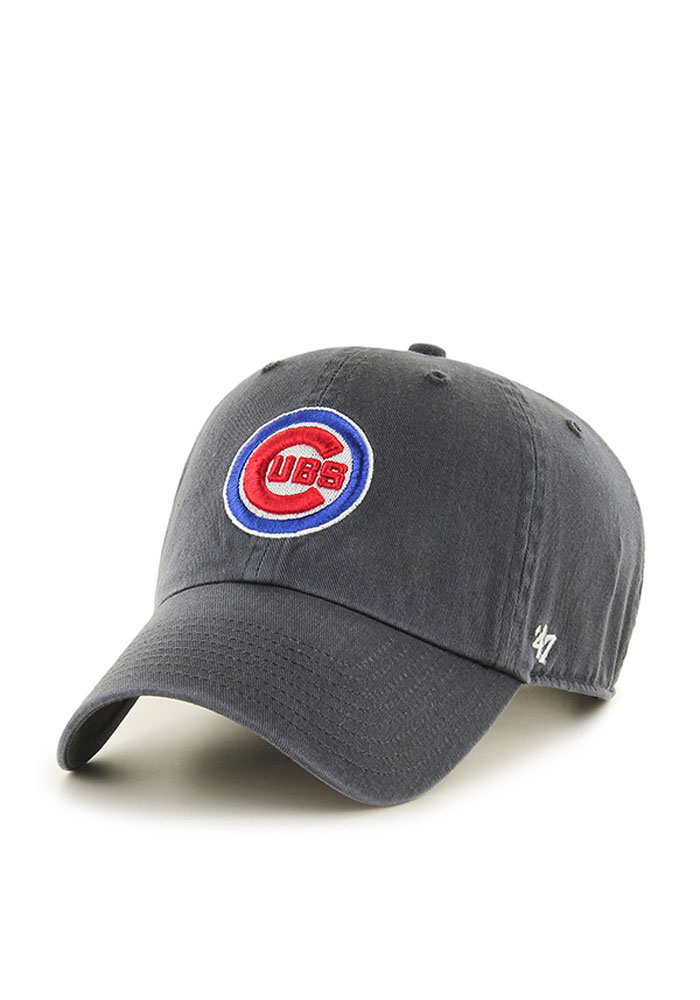 '47 Chicago Cubs Clean Up Adjustable Hat - Charcoal