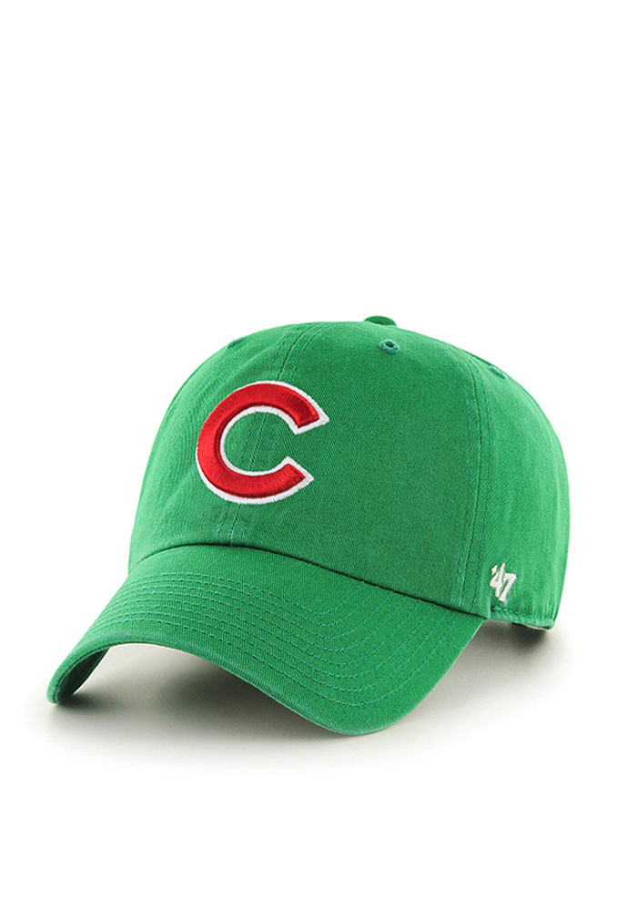 '47 Chicago Cubs Mens Green Clean Up Adjustable Hat - Image 1