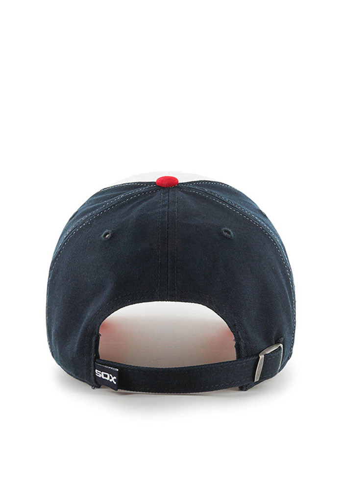 '47 Chicago White Sox Mens Navy Blue Retro Clean Up Adjustable Hat - Image 2