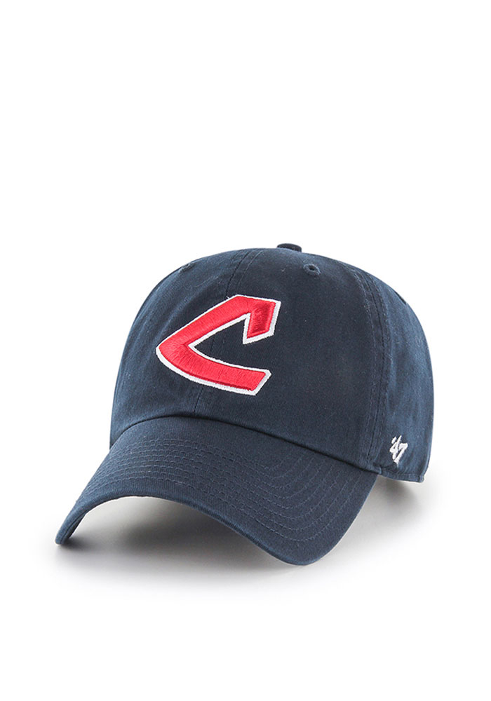 watch 0dc52 6c637 ... low price 47 cleveland indians mens navy blue retro clean up adjustable  hat image 1.