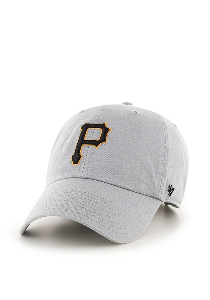 '47 Pittsburgh Pirates Mens Grey Clean Up Adjustable Hat - Image 1