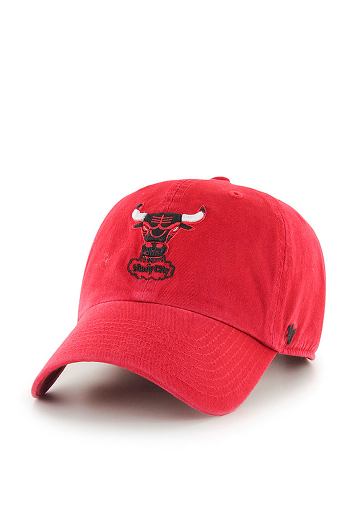 '47 Chicago Bulls Mens Red 1984 Clean Up Adjustable Hat - Image 1