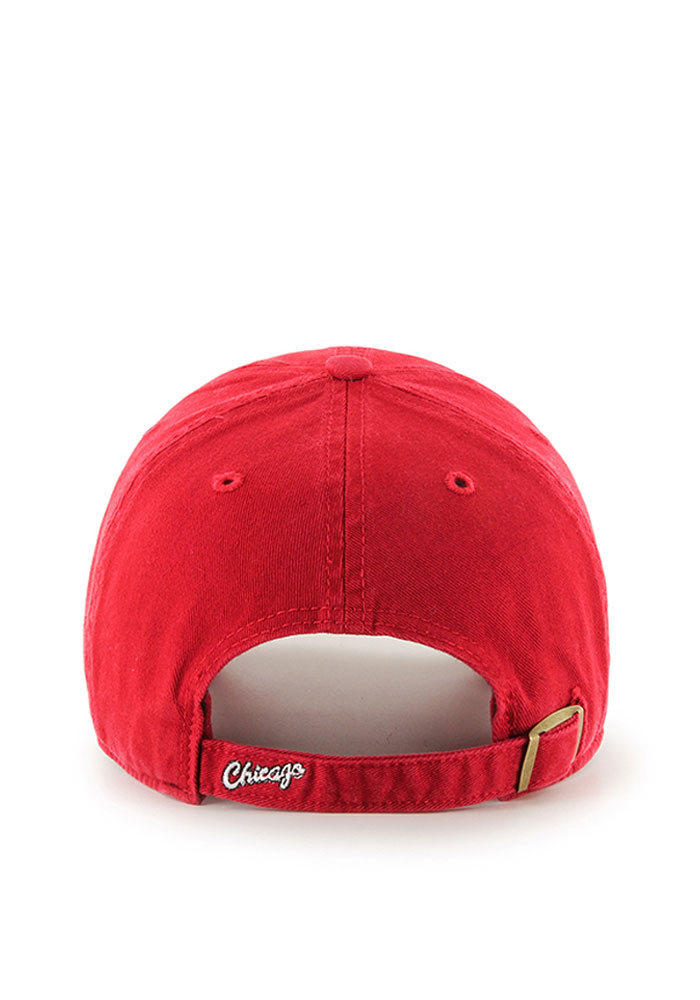 '47 Chicago Bulls Mens Red 1984 Clean Up Adjustable Hat - Image 2