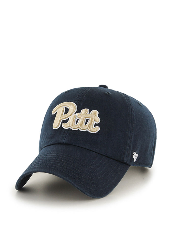 47 Pitt Panthers Clean Up Adjustable Hat - Navy Blue - Image 1