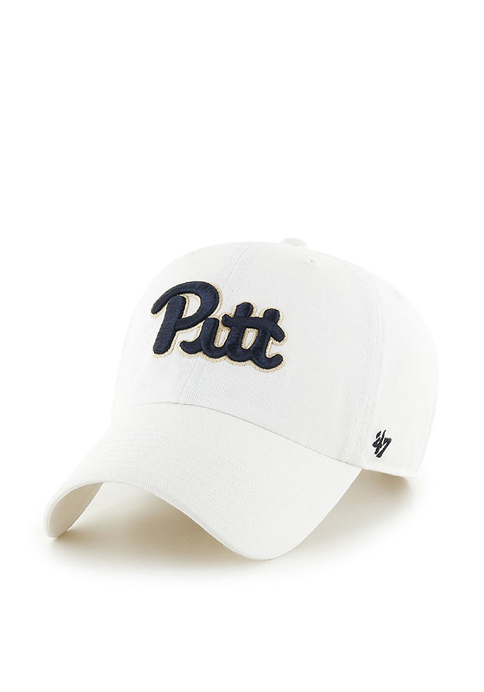 47 Pitt Panthers White Clean Up Adjustable Hat e1e86d23f