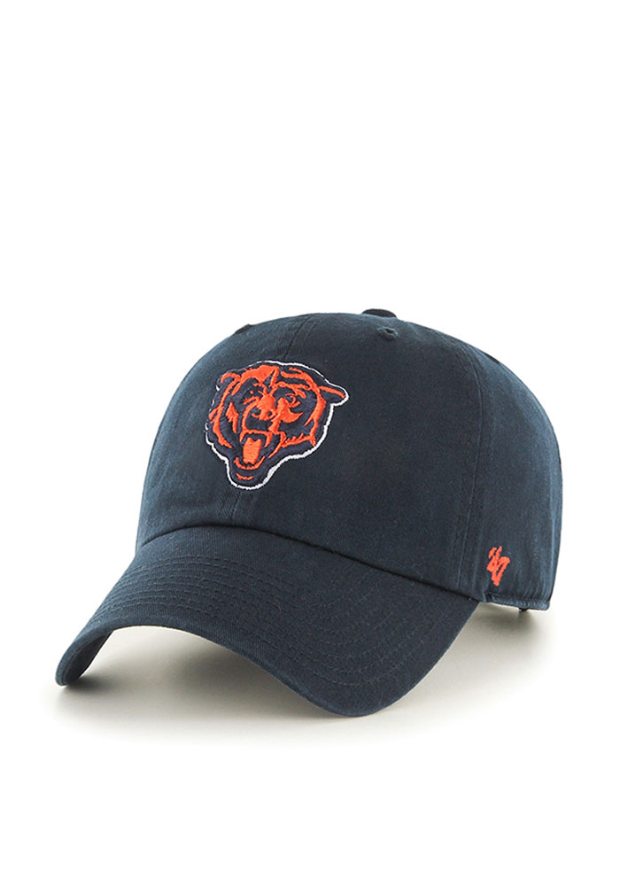 '47 Chicago Bears Mens Navy Blue Clean Up Adjustable Hat - Image 1