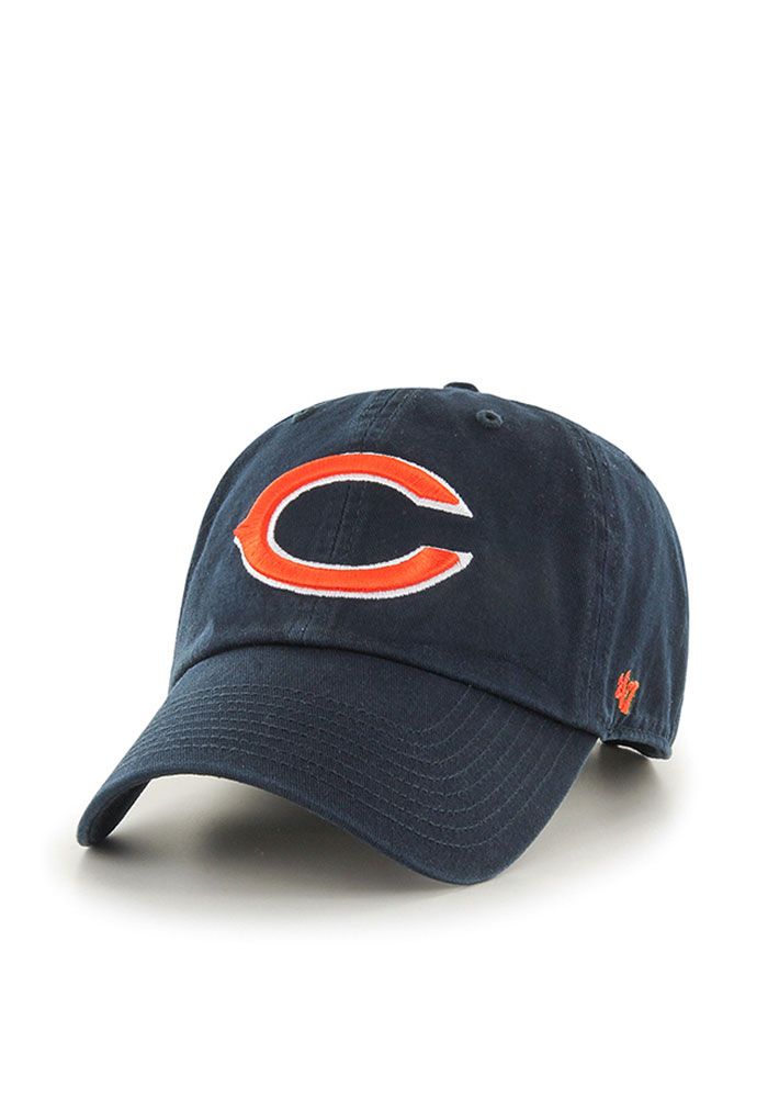 47 Chicago Bears Clean Up Adjustable Hat - Navy Blue - Image 1
