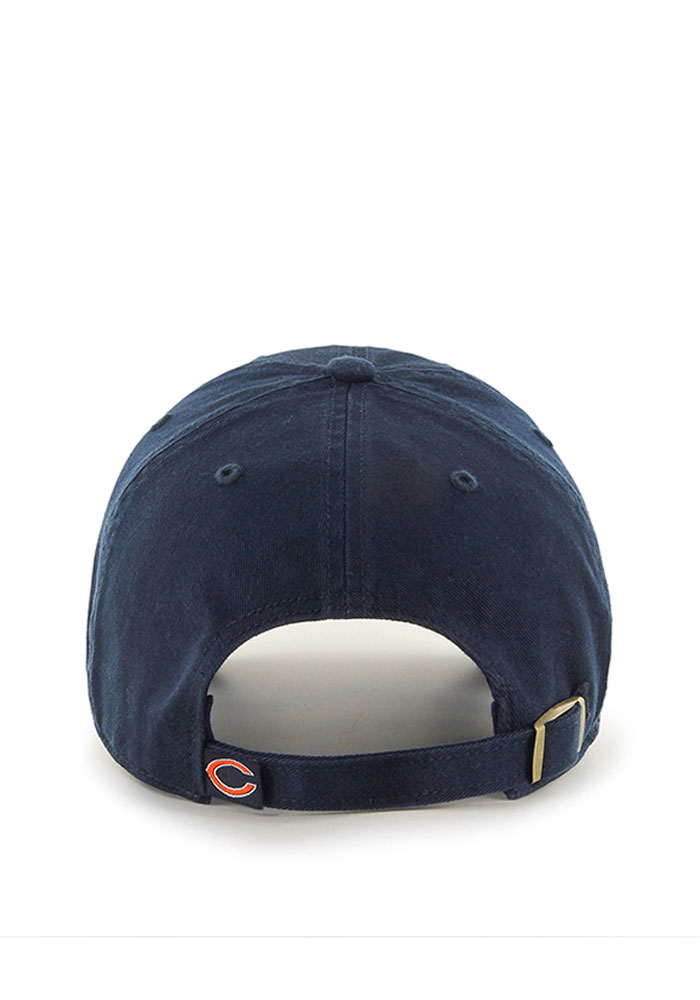 '47 Chicago Bears Mens Navy Blue Clean Up Adjustable Hat - Image 2