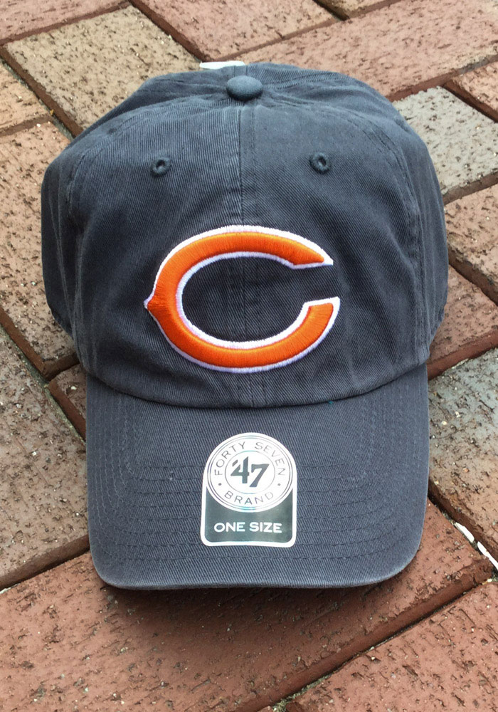 47 Chicago Bears Clean Up Adjustable Hat - Navy Blue - Image 3