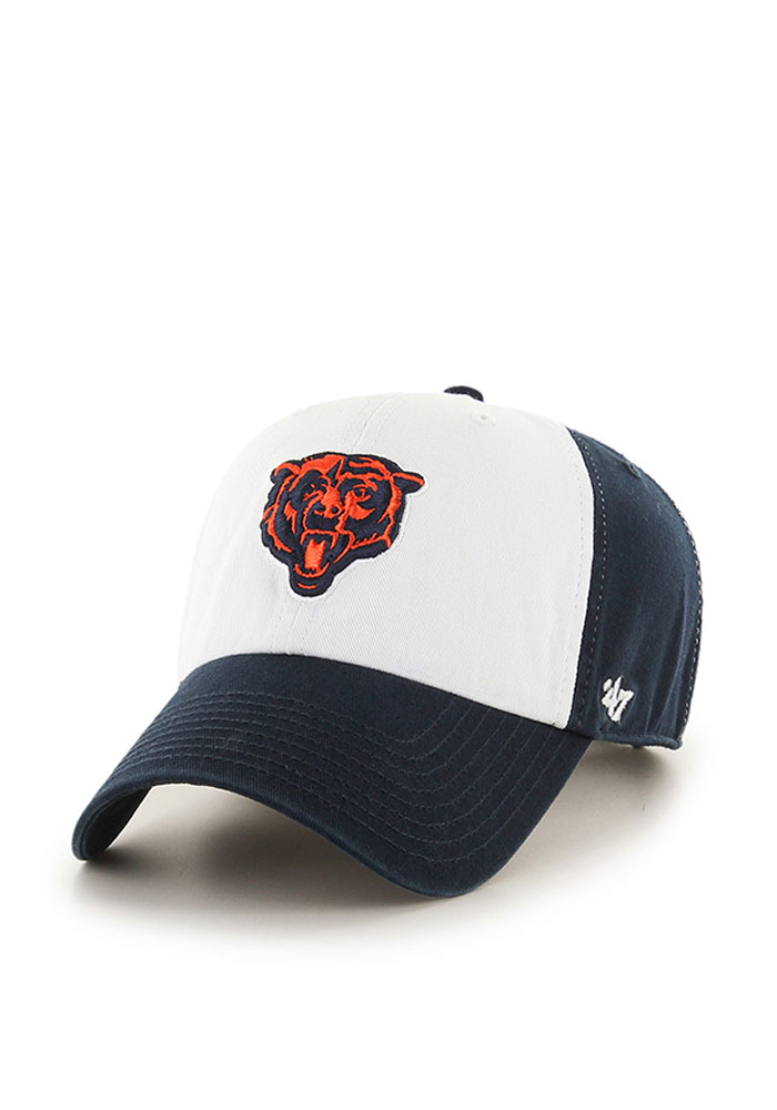 '47 Chicago Bears Mens Navy Blue Freshman Clean Up Adjustable Hat - Image 1