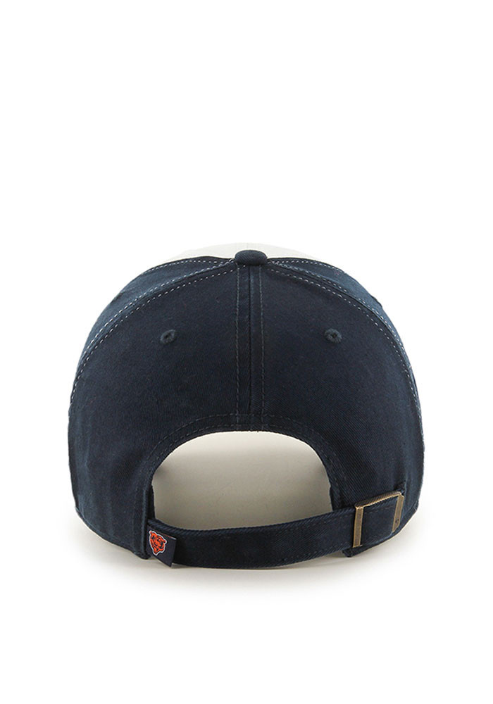 '47 Chicago Bears Mens Navy Blue Freshman Clean Up Adjustable Hat - Image 2