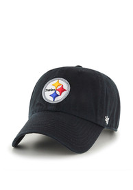 Pittsburgh Steelers 47 Clean Up Adjustable Hat - Black