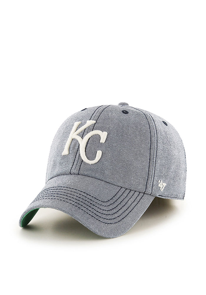 '47 Kansas City Royals Mens Navy Blue Colfax Franchise Fitted Hat - Image 1