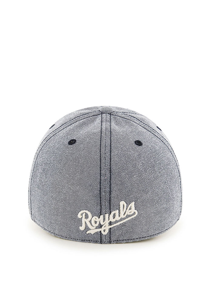 '47 Kansas City Royals Mens Navy Blue Colfax Franchise Fitted Hat - Image 2