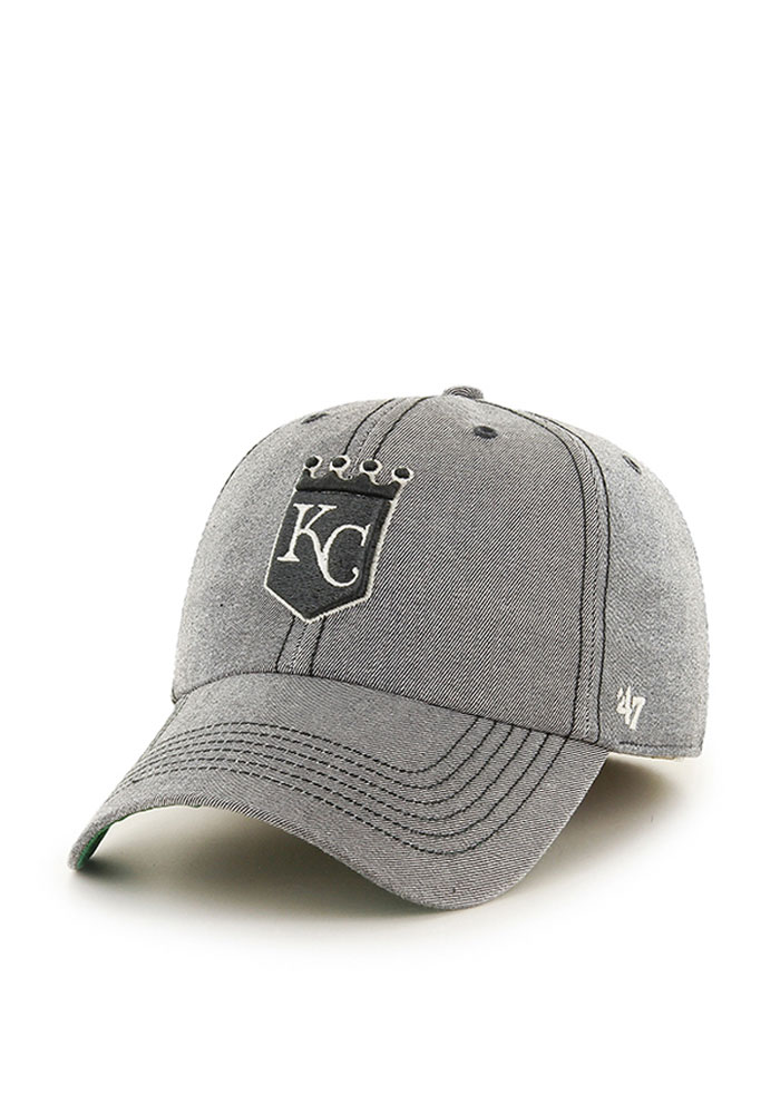 '47 Kansas City Royals Mens Grey Retro Colfax Franchise Fitted Hat - Image 1