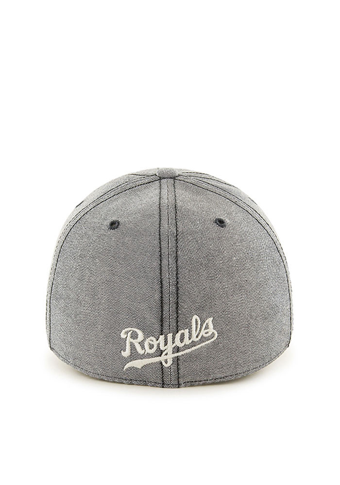 '47 Kansas City Royals Mens Grey Retro Colfax Franchise Fitted Hat - Image 2
