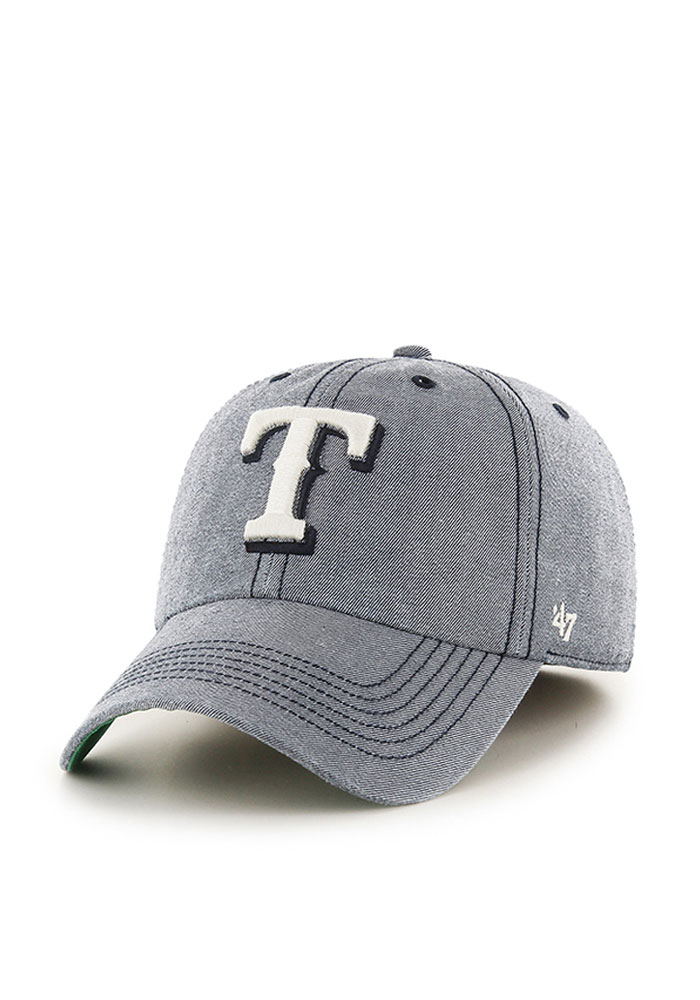 47 Texas Rangers Mens Navy Blue Colfax Franchise Fitted Hat - Image 1