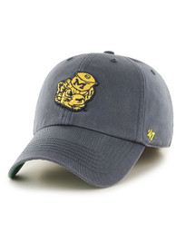 Michigan Wolverines 47 Navy Blue Retro Franchise Fitted Hat