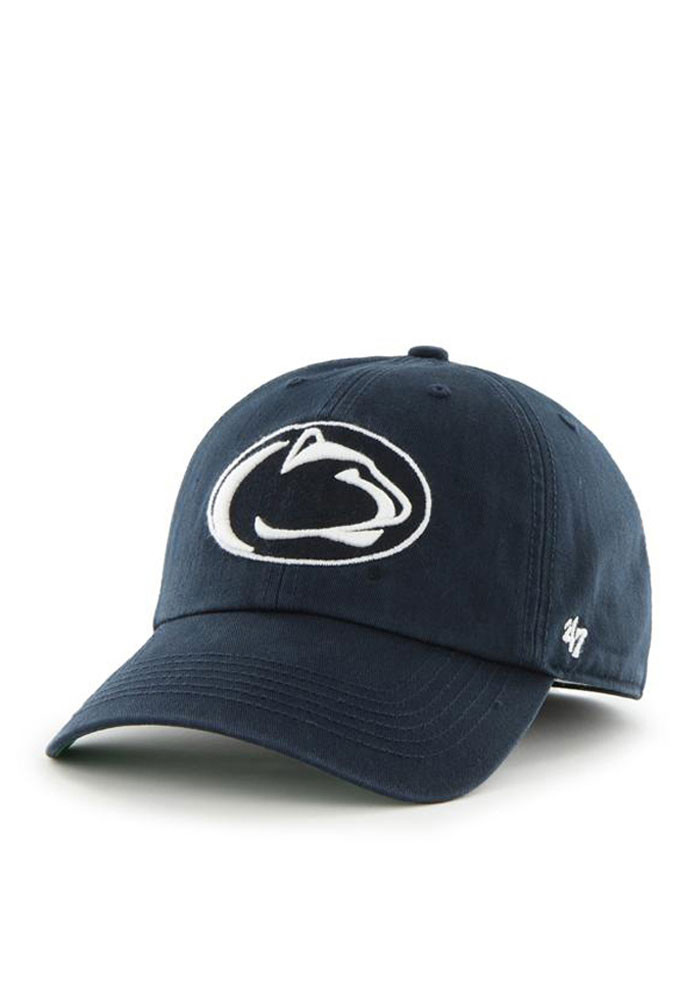 '47 Penn State Nittany Lions Mens Navy Blue Franchise Fitted Hat - Image 1
