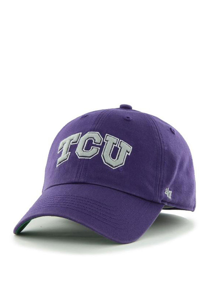 '47 TCU Horned Frogs Mens Purple Franchise Fitted Hat - Image 1