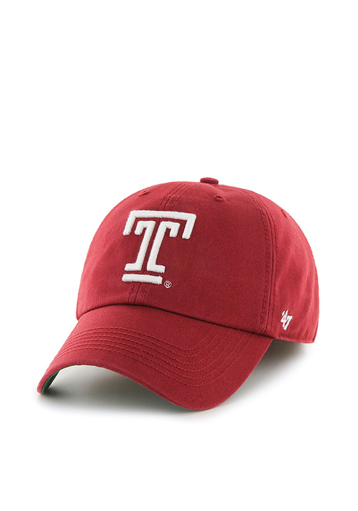 '47 Temple Owls Mens Cardinal Franchise Fitted Hat - Image 1