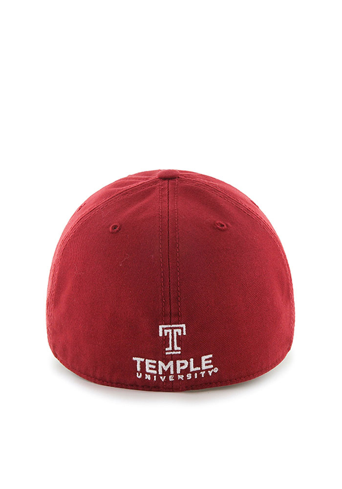'47 Temple Owls Mens Cardinal Franchise Fitted Hat - Image 2