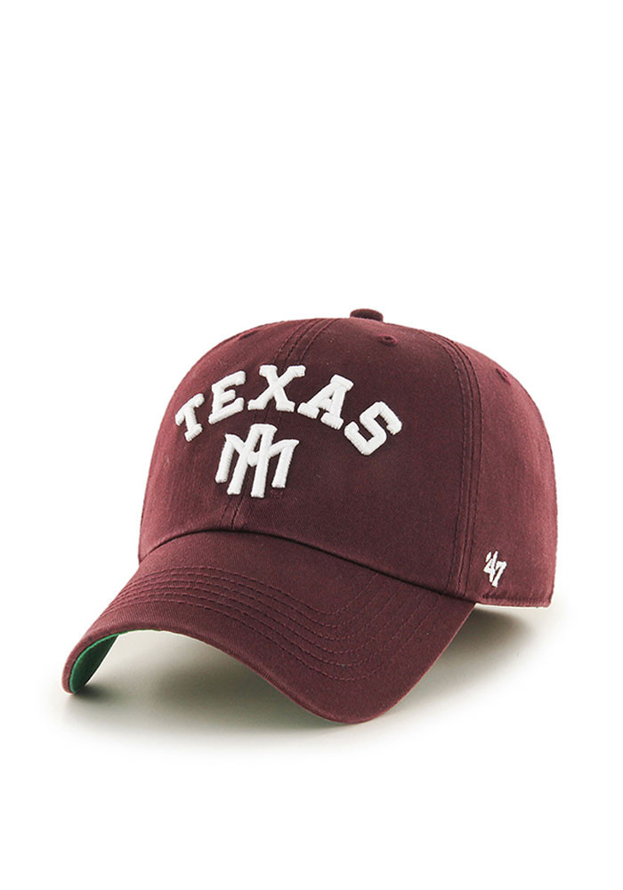 '47 Texas A&M Aggies Mens Maroon Franchise Fitted Hat - Image 1