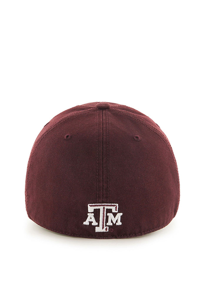 '47 Texas A&M Aggies Mens Maroon Franchise Fitted Hat - Image 2