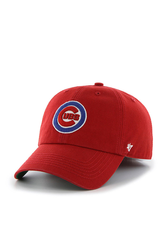 '47 Chicago Cubs Mens Red Franchise Fitted Hat - Image 1