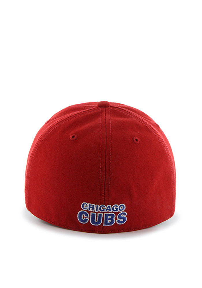 '47 Chicago Cubs Mens Red Franchise Fitted Hat - Image 2