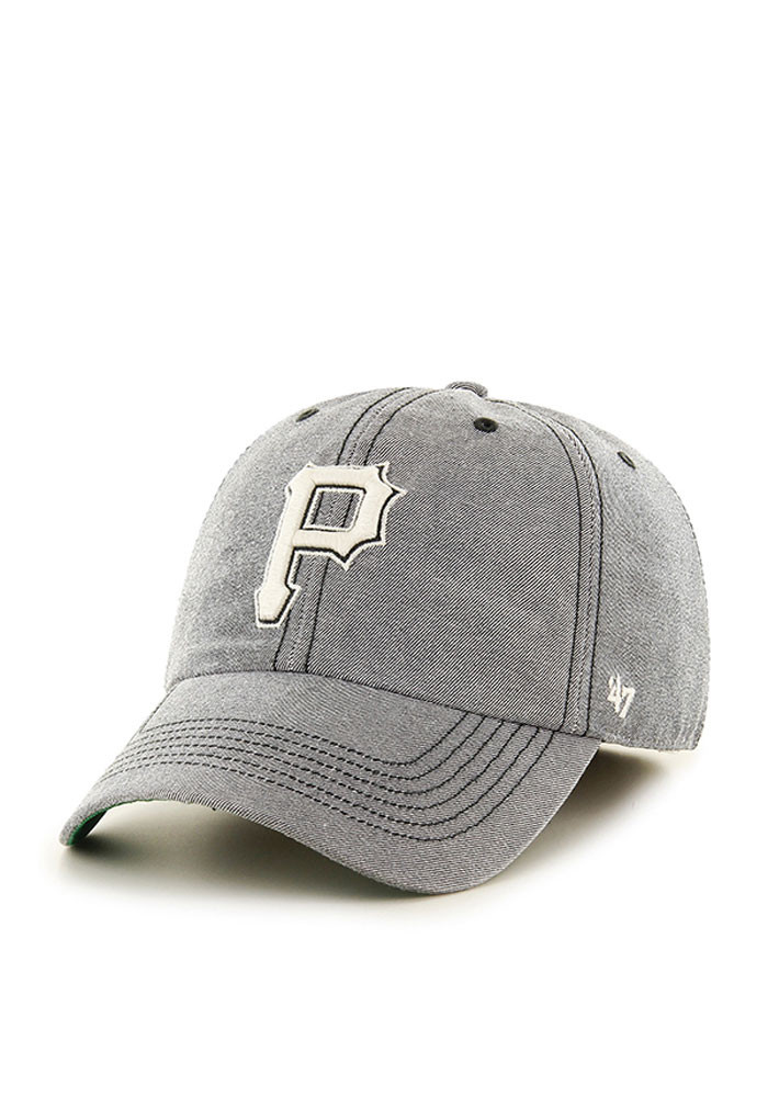'47 Pittsburgh Pirates Mens Grey Colfax Franchise Fitted Hat - Image 1