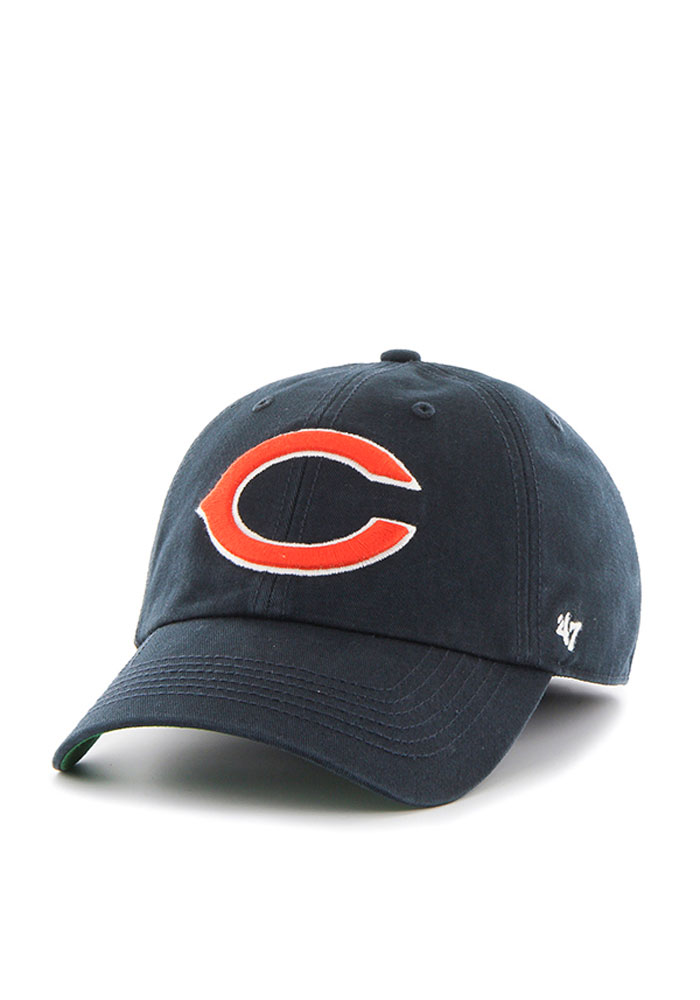 '47 Chicago Bears Mens Navy Blue Franchise Fitted Hat - Image 1