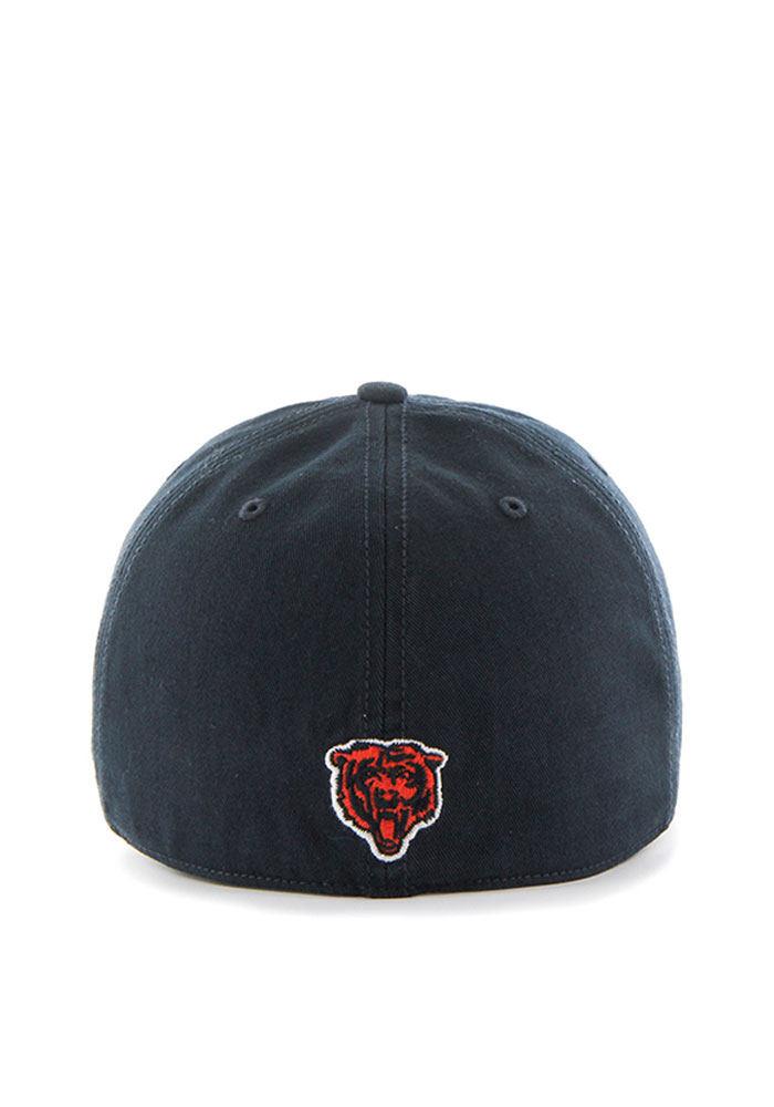 '47 Chicago Bears Mens Navy Blue Franchise Fitted Hat - Image 2