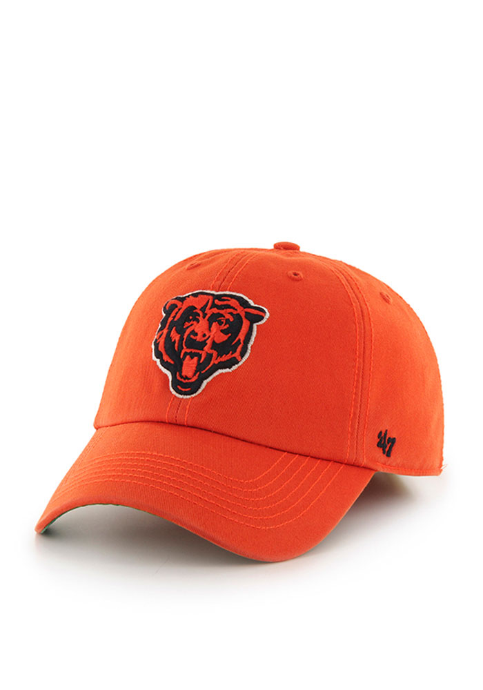 '47 Chicago Bears Mens Orange Franchise Fitted Hat - Image 1