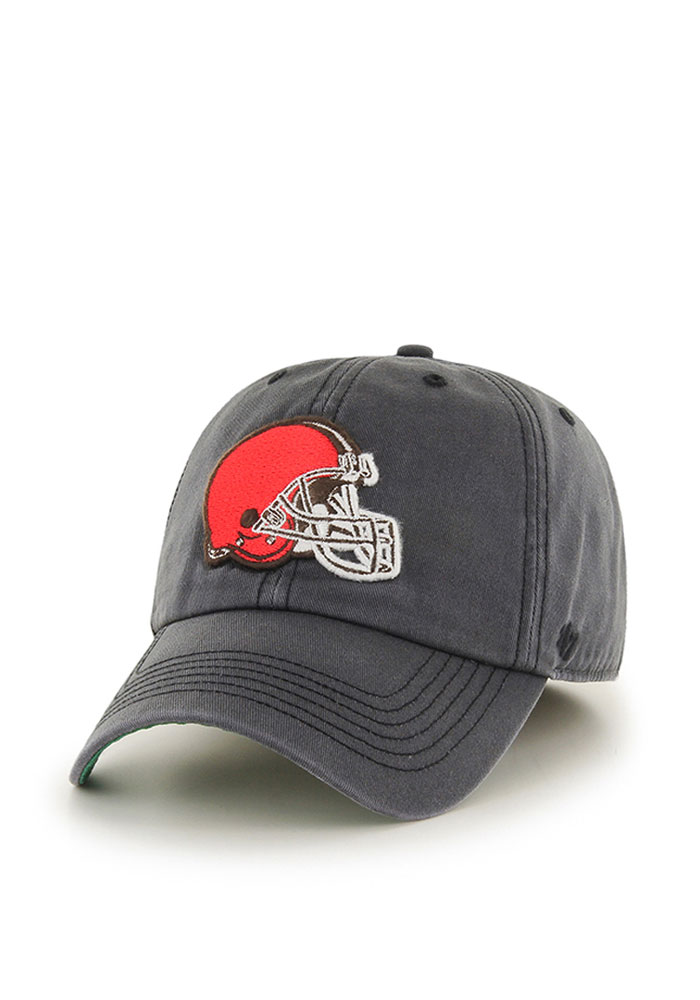 '47 Cleveland Browns Mens Grey Sachem Franchise Fitted Hat - Image 1
