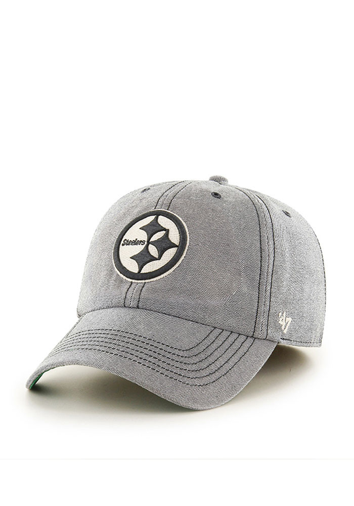 '47 Pittsburgh Steelers Mens Grey Colfax Franchise Fitted Hat - Image 1