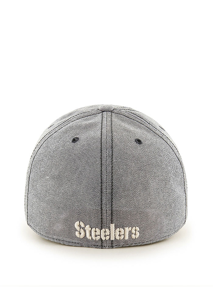 '47 Pittsburgh Steelers Mens Grey Colfax Franchise Fitted Hat - Image 2