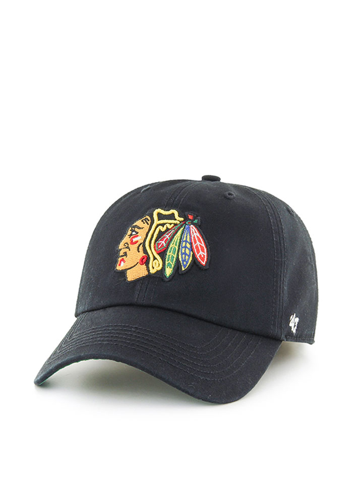 '47 Chicago Blackhawks Mens Black Franchise Fitted Hat - Image 1