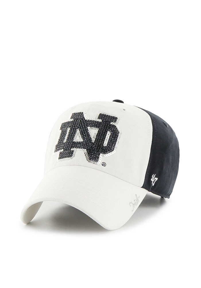 '47 Notre Dame Fighting Irish Navy Blue Two Tone Sparkle Womens Adjustable Hat - Image 1
