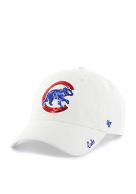 47 Chicago Cubs Womens White Sparkle Adjustable Hat