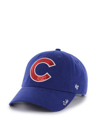 54f5b9d16bc91  47 Chicago Cubs Womens Blue Sparkle Adjustable Hat