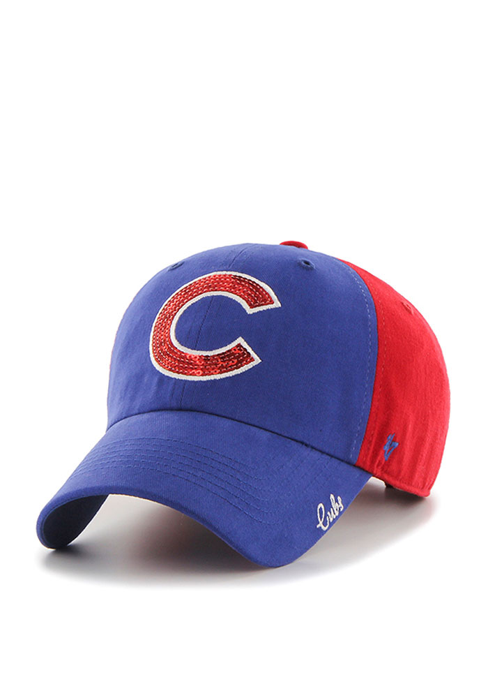 '47 Chicago Cubs Blue Two Tone Sparkle Womens Adjustable Hat - Image 1