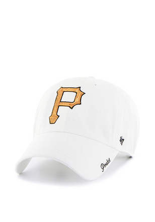 '47 Pittsburgh Pirates Womens White Sparkle Adjustable Hat