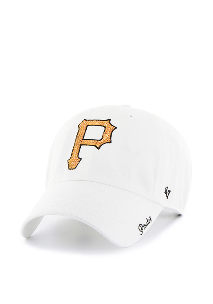 '47 Pittsburgh Pirates White Sparkle Womens Adjustable Hat - Image 1