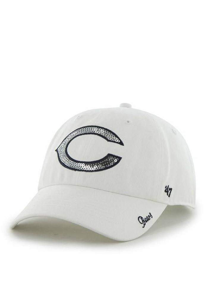 '47 Chicago Bears White Sparkle Womens Adjustable Hat - Image 1